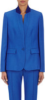 Stella McCartney Women's Fleur Wool Single-Button Jacket-BLUE