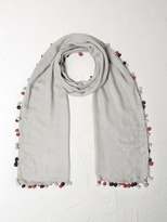 White Stuff Pom pom plain scarf