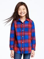 Old Navy Plaid Flannel Boyfriend Shirt for Girls