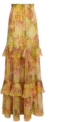 Dundas Tiered Ruffle Maxi Skirt
