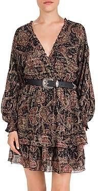 The Kooples Tanger Bandana Print Silk-Blend Dress