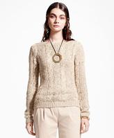 Brooks Brothers Silk-Cashmere Crewneck Sweater