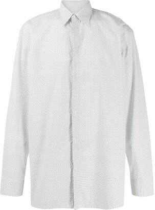Maison Margiela Micro Paisley Printed Shirt