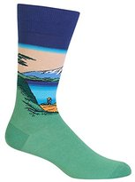 Hot Sox Men's Mt Fuji Over A Lake Crew Sock