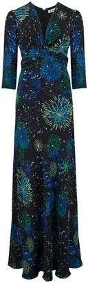 Libelula Long Millie Dress Black Fireworks Print