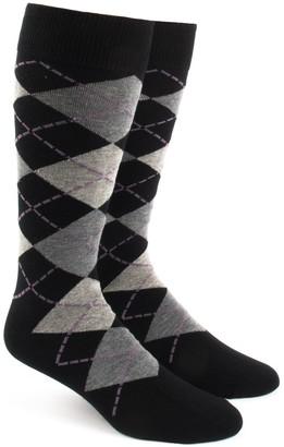 Tie Bar Argyle Warm Grey Dress Socks