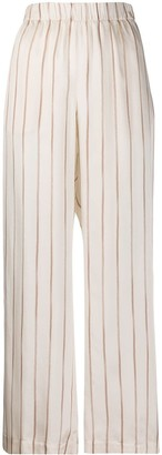 Peserico Striped Wide Leg Trousers