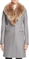 SAM. Crosby Wool Coat with Fur Trim