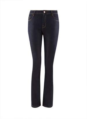 Dorothy Perkins Womens Indigo 'Ashley' Stretch Bootcut Jeans
