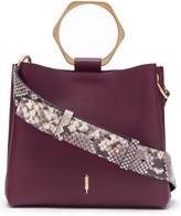 THACKER Bardot Leather Bucket Bag