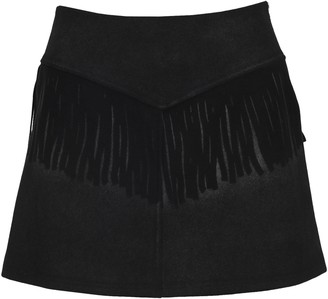 MM6 MAISON MARGIELA Fringe Mini Skirt