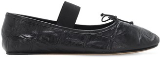 Marni Croc Embossed Leather Loafers