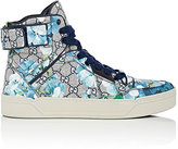Gucci Men's GG Blooms Coated Canvas Sneakers