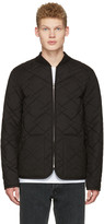 A.P.C. Black Quilted Ontario Bomber Jacket