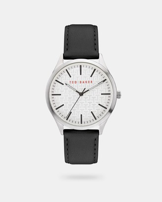 Ted Baker MANHAAC Pebble grain leather strap watch