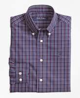 Brooks Brothers Non-Iron Windowpane Tattersall Sport Shirt