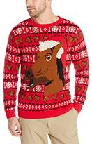 Alex Stevens Men's Happy Holidays Horse Ugly Christmas Sweater