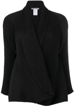 Issey Miyake Pleated Wrap Blazer Jacket