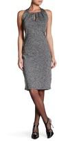 Max Studio Knit Sleeveless Front Keyhole Dress