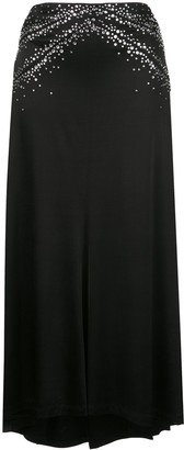 Paco Rabanne Crystal Embellished Jersey Skirt