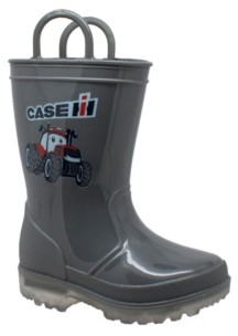 Case Ih Toddler Boys and Girls Boot with Light-up Outsole