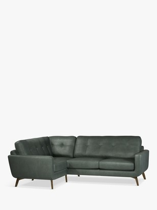 John Lewis & Partners Barbican LHF Corner End Leather Sofa, Dark Leg