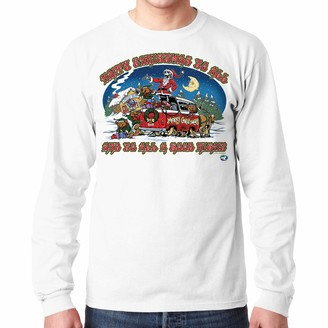 Liquid Blue Unisex-Adult's Happy Christmas to All A Good Night Long Sleeve Graphic TEE