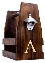 Cathy's Concepts Cathys Concepts Rustic Wooden Craft Beer Carrier with Bottle Opener