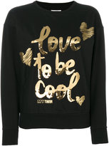Twin-Set 'love to be cool' sweater