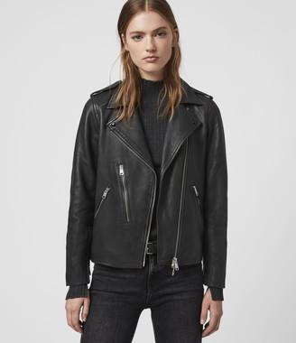 AllSaints Elva Leather Biker Jacket