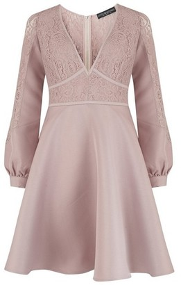 Dorothy Perkins Womens Little Mistress Mink Lace Prom Dress