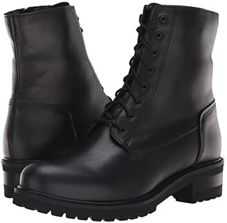 La Canadienne Caterina (Black Leather) Women's Lace-up Boots