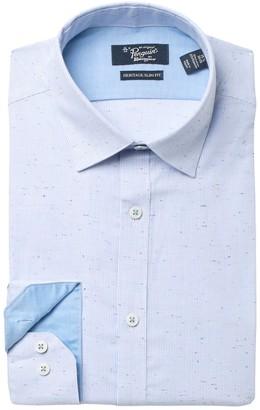 Original Penguin Speckled Micro Stripe Slim Fit Dress Shirt