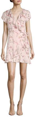 1st Sight Floral Wrap A-Line Dress