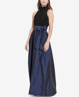 Lauren Ralph Lauren Jersey-Taffeta Gown