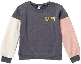 Harper Canyon Colorblock Fleece Cozy Sweatshirt (Big Girls)