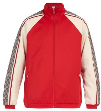 Gucci GG Jersey Track Top - Mens - Red Multi