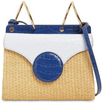 Danse Lente Mini Phoebe Raffia & Leather Folio Bag