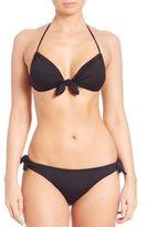 Shoshanna Tie-Front Bikini Top