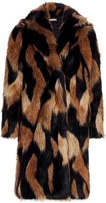 Alice + Olivia Foster Faux Fur Full Length Coat