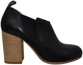Gee WaWa Black Veronica Leather Bootie