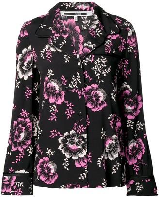 McQ Swallow Floral Print Lounge Shirt
