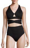 Proenza Schouler Two-Piece Solid Bikini