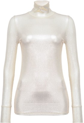 Pinko Metallic Turtle Neck Top