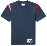 Calvin Klein Stripe-Trimmed Cotton-Jersey T-Shirt