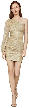 BCBGMAXAZRIA One Sleeve Cocktail Dress (Gold) Women's Dress