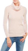 vertical design Cowl Neck Cashmere Sweater