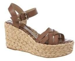 Sam Edelman Darline Leather Espadrille Wedge Sandals