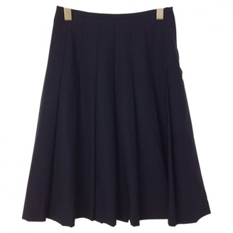 Comme des Garcons Blue Wool Skirts