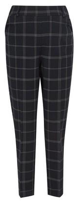 Dorothy Perkins Womens Dp Maternity Black Check Print Grid Ankle Grazer Trousers, Black